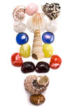 Sea shells and semiprecious stones Royalty Free Stock Photo