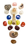 Sea shells and semiprecious stones Stock Photo