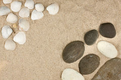 Sea shells,stones Royalty Free Stock Photo
