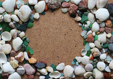 Sea shells and stones Royalty Free Stock Images