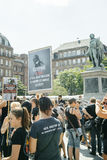 Sea Shepherd protesting against slaughter pilot whales arrest of Royalty Free Stock Photography