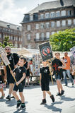 Sea Shepherd protesting against slaughter pilot whales arrest of Stock Photography