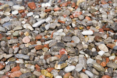 Sea shingle. Close-up view of sea shingle Royalty Free Stock Photo