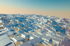 Sea of blocks Stock Images