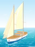 Sea ship. Vector Illustration. EPS8. Stock Images