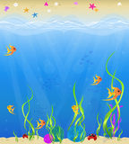 Sea and Shore. The depths of the sea connected to the shore. Great for wallpapers, backgrounds, cards and posters royalty free illustration