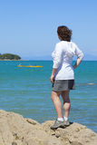 On the sea shore Stock Photography