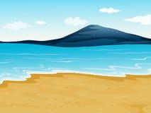 A sea shore. Illustration of a sea shore in a beautiful nature vector illustration
