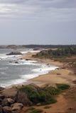 Sea shore. And beach in Kirinda, Sri Lanka Royalty Free Stock Photos
