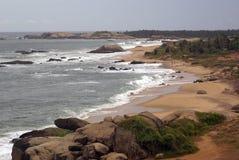 Sea shore. And beach in Kirinda, Sri Lanka Stock Images