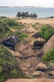 Sea shore. And beach in Kirinda, Sri Lanka Royalty Free Stock Photography
