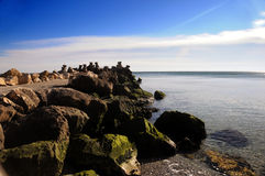 Sea shore. In a romanian resort at Black Sea Royalty Free Stock Image