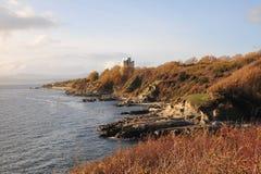 Sea and shore stock image