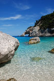 Sea shore. With arc in the mountain (Sardinia Stock Images