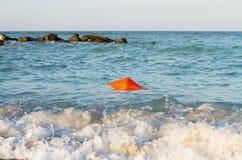 Sea shore buoy Royalty Free Stock Image