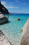 Sea-shore (Cala Goloritze). Sea-shore with transparent water (eastern part of Sardinia Royalty Free Stock Photos