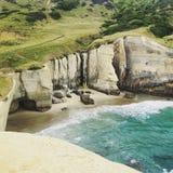 Sea shore cliffs Stock Photography