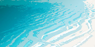 Sea_shore_dune. Vector illustration of a sand dune on the seashore, smoothly flowing into clear water Royalty Free Stock Image
