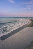 Sea shore. embankment quay at sunset sunrise Stock Photography