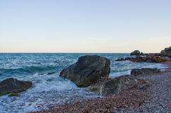 On the sea shore. Royalty Free Stock Image