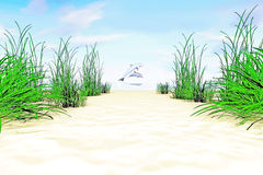 On the sea shore. Royalty Free Stock Images
