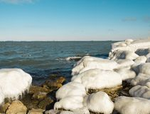 Sea shore in ice Royalty Free Stock Photo