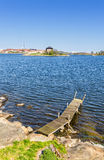 Sea shore in Karlskrona Royalty Free Stock Photo