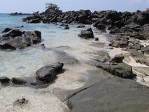Sea shore Koh Yao Thailand 2. Weathered rocky coast on Koh Yao Thailand 2 Stock Photos