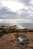 Sea shore and lake. Sea shore and beach in Kirinda, Sri Lanka Royalty Free Stock Photography