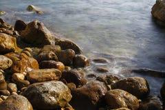 Sea shore in a long exposure shot Royalty Free Stock Photos