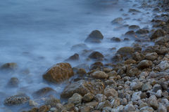 Sea shore in a long exposure shot Royalty Free Stock Image
