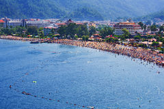 Sea shore in Marmaris Stock Photo