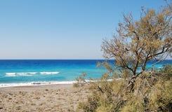 Sea shore, Rhodes Island, Greece. Stock Photos