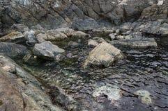 Sea shore with rocks Stock Photos