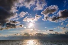 Sea shore with a sandy beach Stock Photography