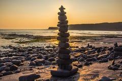 Sea, Shore, Sky, Rock stock image