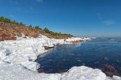 Shore during spring. Sea shore during spring - Baltic Sea - Sweden Stock Photo