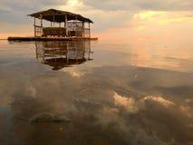 Sea, Shore, Sunrise, Calm stock images