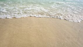 Sea shore with sandy beach. Sea shore with  wave and sandy beach royalty free stock photo