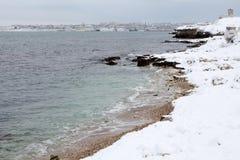 Sea Shore in the winter Stock Image