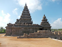 Sea shrine in Mahabalipuram. Mahabalipuram is a coastal town south of Chennai which has many ancient artifacts and religious relics.  In this photo is the sea Stock Photo