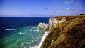 Sea-side cliffs in Etretat, France Royalty Free Stock Images