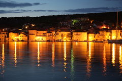 Sea side old town. City Milna on the island Brac Royalty Free Stock Photos