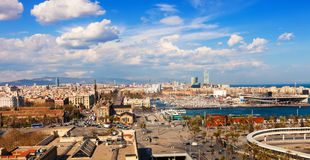 Sea side in sunny day. Barcelona Royalty Free Stock Images