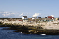 Sea Side Town. Peggy's Cove famous sea side town, Nova Scotia, Canada Stock Photography