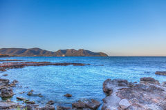 Sea side view at cala bona in majorca Royalty Free Stock Image