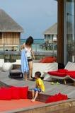 Sea-side villa Stock Images