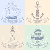 Sea silhouette Royalty Free Stock Images