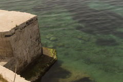 The sea of Siracusa - Italy. View of the Siracusa's sea from medieval Casstle Royalty Free Stock Photography