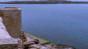 The sea of Siracusa - Italy. View of the Siracusa's sea from medieval Casstle Stock Image